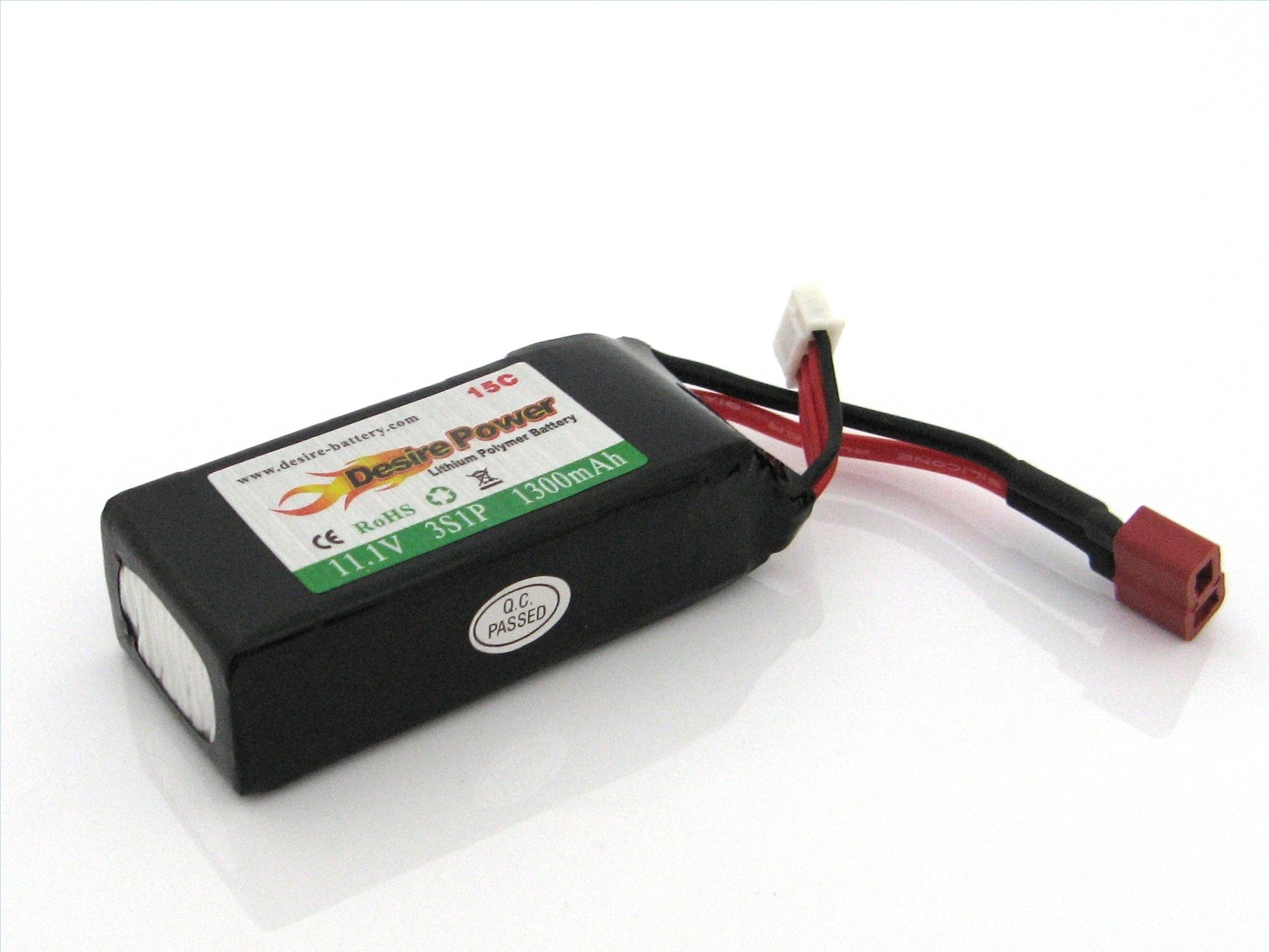 LiPo Battery 11,1V 1300mAh 15C JST