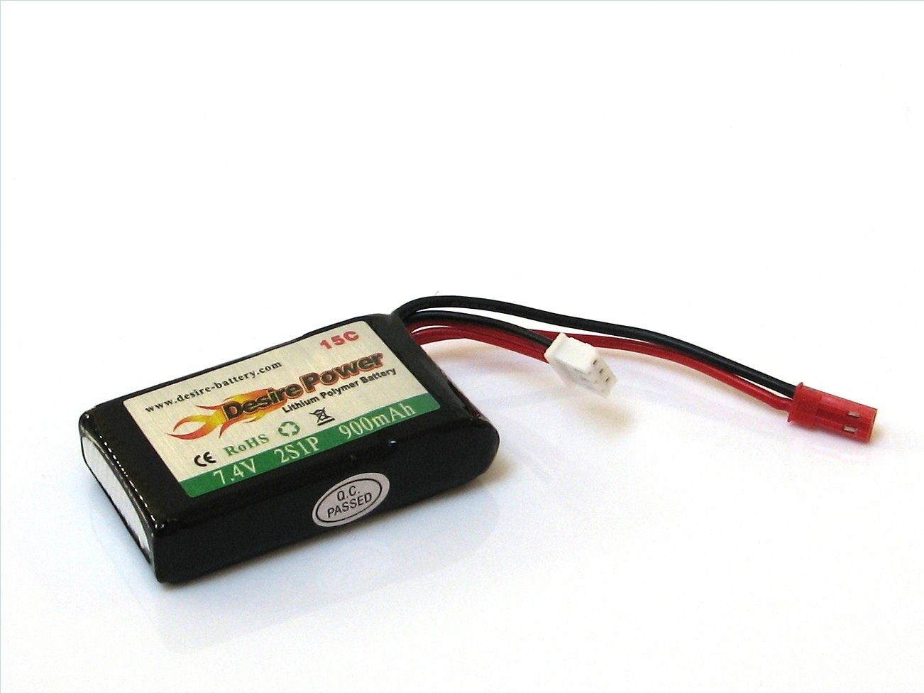 LiPo battery 7,4V 900mAh 15C JST